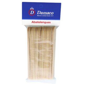 Abatelenguas de madera Damaco bolsa con 25 piezas