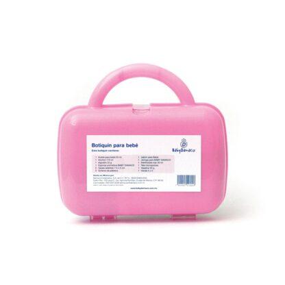 Reverso botiquín Primeros Auxilios para bebé Baby Damaco maletín de plástico rígido color rosa