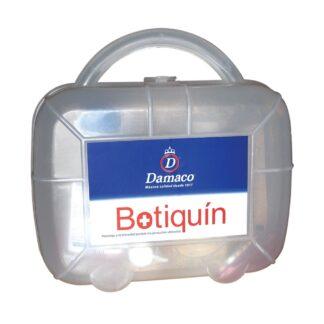 Botiquín Primeros Auxilios Damaco en maletín de plástico rígido semi-transparente