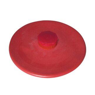 Bolsa redonda de hule natural para agua fría o hielo color rojo marca Damaco