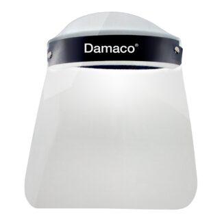 Vista frontal careta protectora para adulto Damaco